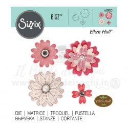 Sizzix Bigz - Strati di fiori con petali a forma di cuore