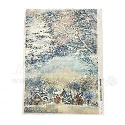 Carta di Riso Snow Village